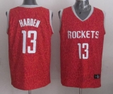 Houston Rockets #13 James Harden Red Crazy Light Stitched NBA Jersey