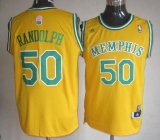 Memphis Grizzlies #50 Zach Randolph Yellow ABA Hardwood Classic Stitched NBA Jersey