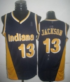 Mitchell And Ness Indiana Pacers #13 Mark Jackson Navy Blue Throwback Stitched NBA Jersey