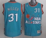 Mitchell And Ness Indiana Pacers #31 Reggie Miller Light Blue 1996 All Star Stitched NBA Jersey