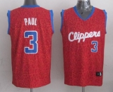 Los Angeles Clippers #3 Chris Paul Red Crazy Light Stitched NBA Jersey