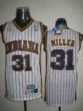 Mitchell and Ness Indiana Pacers #31 Reggie Miller White Stitched Throwback NBA Jersey
