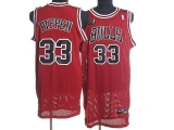 Chicago Bulls #33 Scottie Pippen Stitched Red Champion Patch NBA Jersey