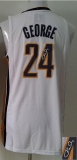 Revolution 30 Autographed Indiana Pacers #24 Paul George White Stitched NBA Jersey