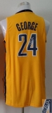 Revolution 30 Autographed Indiana Pacers #24 Paul George Yellow Stitched NBA Jersey