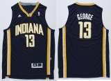 Revolution 30 Indiana Pacers #13 Paul George Navy Blue Stitched NBA Jersey