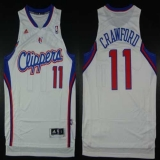 Los Angeles Clippers #11 Jamal Crawford White Home Stitched NBA Jersey