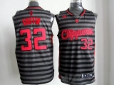 Los Angeles Clippers #32 Blake Griffin Black Grey Groove Stitched NBA Jersey
