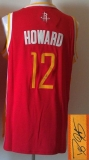 Revolution 30 Autographed Houston Rockets #12 Dwight Howard Red Alternate Stitched NBA Jersey