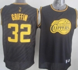 Los Angeles Clippers #32 Blake Griffin Black Precious Metals Fashion Stitched NBA Jersey