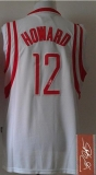 Revolution 30 Autographed Houston Rockets #12 Dwight Howard White Stitched NBA Jersey