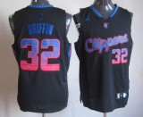 Los Angeles Clippers #32 Blake Griffin Black Vibe Stitched NBA Jersey
