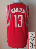 Revolution 30 Autographed Houston Rockets #13 James Harden Red Stitched NBA Jersey