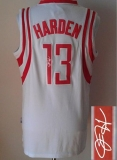 Revolution 30 Autographed Houston Rockets #13 James Harden White Stitched NBA Jersey