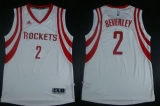 Revolution 30 Houston Rockets #2 Patrick Beverley White Road Stitched NBA Jersey