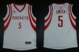 Revolution 30 Houston Rockets #5 Josh Smith White Road Stitched NBA Jersey