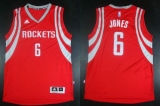 Revolution 30 Houston Rockets #6 Terrence Jones Red Road Stitched NBA Jersey