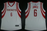Revolution 30 Houston Rockets #6 Terrence Jones White Home Stitched NBA Jersey
