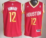 Revolution 30 Houston Rockets #12 Dwight Howard Red Alternate Stitched NBA Jersey