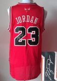 Revolution 30 Autographed Chicago Bulls #23 Michael Jordan Red Stitched NBA Jersey