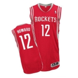 Revolution 30 Houston Rockets #12 Dwight Howard Red Road Stitched NBA Jersey