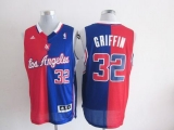 Los Angeles Clippers #32 Blake Griffin Red Blue Split Fashion Stitched NBA Jersey