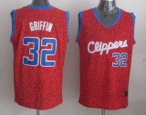 Los Angeles Clippers #32 Blake Griffin Red Crazy Light Stitched NBA Jersey