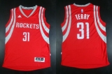 Revolution 30 Houston Rockets #31 Jason Terry Red Road Stitched NBA Jersey