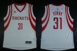 Revolution 30 Houston Rockets #31 Jason Terry White Road Stitched NBA Jersey