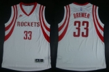 Revolution 30 Houston Rockets #33 Corey Brewer White Road Stitched NBA Jersey