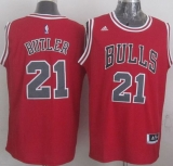 Revolution 30 Chicago Bulls #21 Jimmy Butler Red Stitched NBA Jersey