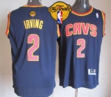 Revolution 30 Cleveland Cavaliers #2 Kyrie Irving Navy Blue The Finals Patch Stitched NBA Jersey