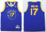 Golden State Warriors #17 Chris Mullin Blue New Throwback Stitched NBA Jersey