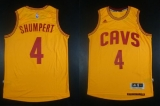 Revolution 30 Cleveland Cavaliers #4 Iman Shumpert Gold Stitched NBA Jersey