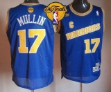 Golden State Warriors #17 Chris Mullin Blue Throwback The Finals Patch Stitched NBA Jersey