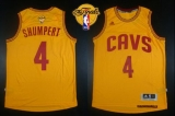 Revolution 30 Cleveland Cavaliers #4 Iman Shumpert Gold The Finals Patch Stitched NBA Jersey