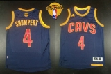 Revolution 30 Cleveland Cavaliers #4 Iman Shumpert Navy Blue CavFanatic The Finals Patch Stitched NBA Jersey