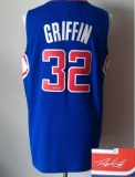 Revolution 30 Autographed Los Angeles Clippers #32 Blake Griffin Blue Stitched NBA Jersey