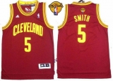 Revolution 30 Cleveland Cavaliers #5 JR Smith Red The Finals Patch Stitched NBA Jersey