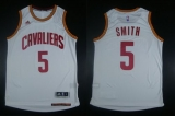 Revolution 30 Cleveland Cavaliers #5 JR Smith White Stitched NBA Jersey