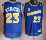 Golden State Warriors #23 Mitch Richmond Blue Throwback Stitched NBA Jersey