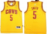Revolution 30 Cleveland Cavaliers #5 JR Smith Yellow Stitched NBA Jersey