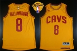 Revolution 30 Cleveland Cavaliers #8 Matthew Dellavedova Gold The Finals Patch Stitched NBA Jersey