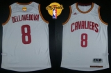 Revolution 30 Cleveland Cavaliers #8 Matthew Dellavedova White The Finals Patch Stitched NBA Jersey