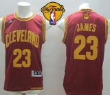 Revolution 30 Cleveland Cavaliers #23 LeBron James Red Road The Finals Patch Stitched NBA Jersey