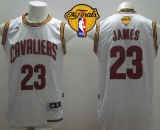 Revolution 30 Cleveland Cavaliers #23 LeBron James White Home The Finals Patch Stitched NBA Jersey