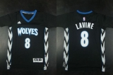 Minnesota Timberwolves #8 Zach LaVine Black Alternate Stitched NBA Jersey
