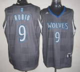 Minnesota Timberwolves #9 Ricky Rubio Black Rhythm Fashion Stitched NBA Jersey