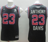 New Orleans Pelicans #23 Anthony Davis Black 2015 All Star Stitched NBA Jersey