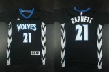 Minnesota Timberwolves #21 Kevin Garnett Black Alternate Stitched NBA Jersey